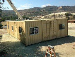 Container House used during construction