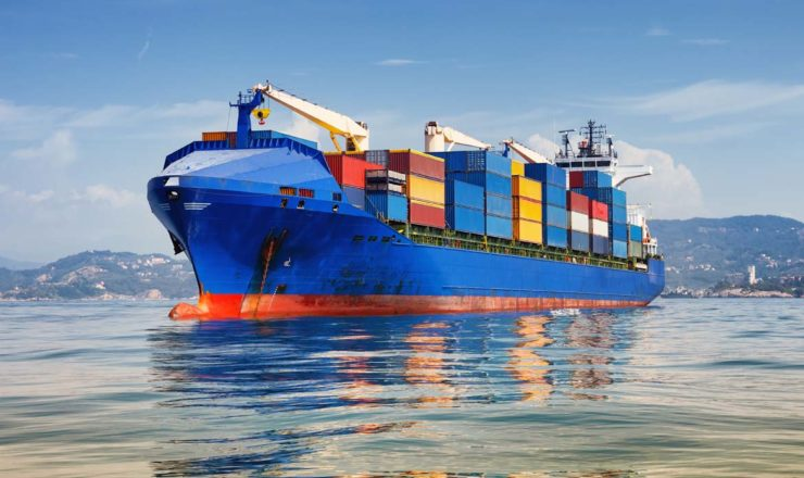 Container Shipping Ship